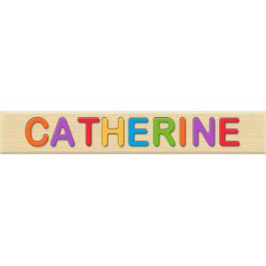 Fat Brain Toys Personalized Name Puzzle - CATHERINE - Early Learning Toys for Babies - Fat Brain Toys