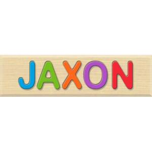 Fat Brain Toys Personalized Name Puzzle - JAXON - Early Learning Toys for Babies - Fat Brain Toys