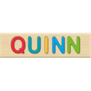 Fat Brain Toys Personalized Name Puzzle - Quinn - Early Learning Toys for Babies - Fat Brain Toys
