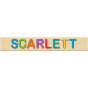 Fat Brain Toys Personalized Name Puzzle - Scarlett - Early Learning Toys for Babies - Fat Brain Toys
