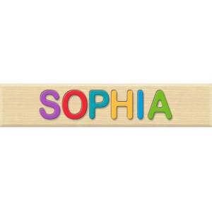 Fat Brain Toys Personalized Name Puzzle - Sophia - Early Learning Toys for Babies - Fat Brain Toys