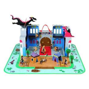 Janod Fantastic Castle Puzzle Playset - Imaginative Play for Ages 5 to 10 - Fat Brain Toys