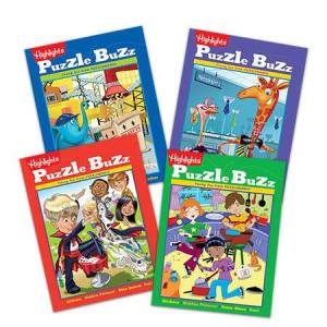 Highlights Puzzle Buzz - set of 4  - Books for Ages 5 to 6 - Fat Brain Toys