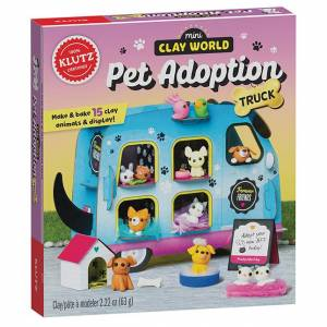 Klutz Mini Clay World Pet Adoption Truck - Arts & Crafts for Ages 8 to 12 - Fat Brain Toys