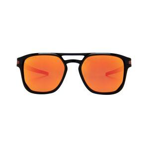 Oakley Luxottica Oakley Latch Beta OO9436 0754 Polished 54 Sunglasses in Black - Online Coastal