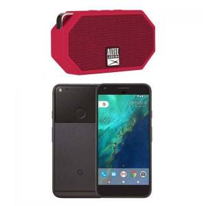 Google Pixel 32GB - Quite Black (Verizon + GSM Unlocked; AT&T / T-Mobile) Smartphone with Altec Lansing Mini Speaker