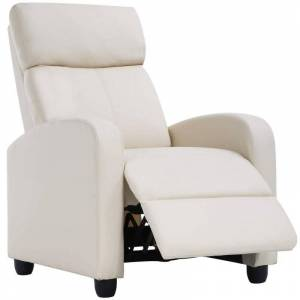 Generic Leather or Fabric Wing-back Recliner Chair with Foot Extension