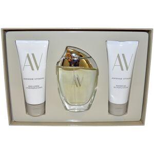 Adrienne Vittadini AV by Adrienne Vittadini for Women - 3 Pc Gift Set 3oz EDP Spray, 3.3oz Body Lotion, 3.3oz Shower Gel
