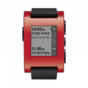 Pebble Technology Corp Pebble Smart Watch for iPhone and Android Devices (Red)