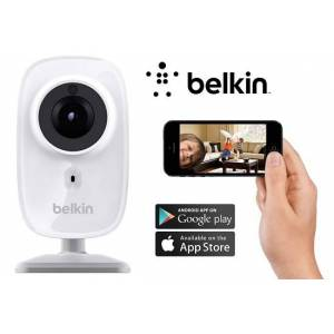 Belkin NetCam HD Wi-Fi Camera with Night Vision - For Tablets and Smartphones