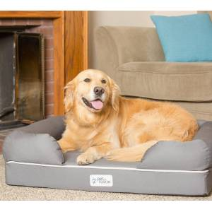PetFusion                                                                         PetFusion Large Ultimate Dog Bed with Orthopedic Memory Foam                                                           - Sandstone