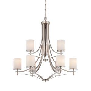 Savoy House Colton 9-Light Chandelier in Satin Nickel