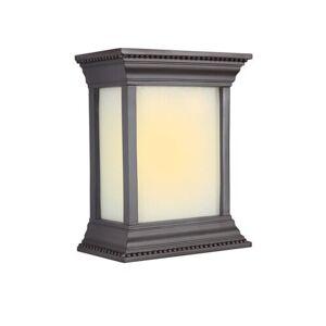 Craftmade Teiber LED White Linen Glass Door Chime in Oiled Bronze