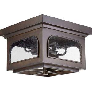 "Quorum International Quorum Fuller 2-Light 13"" Outdoor Ceiling Light in Oiled Bronze"