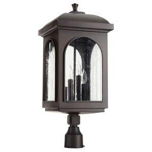 "Quorum International Quorum Fuller 4-Light 22"" Outdoor Post Light in Oiled Bronze"