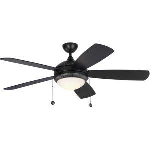 "Monte Carlo Discus Ornate 52"" Ceiling Fan in Matte Black"