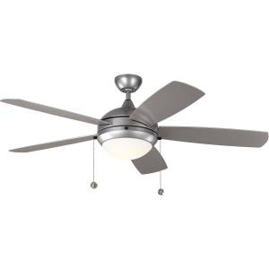 """Monte Carlo Discus Outdoor 52"""" Discus Outdoor Fan in Painted Brushed Steel"""