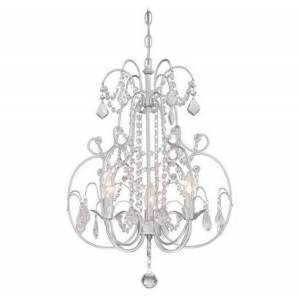 """Minka Lavery 3-Light 17"""" Traditional Chandelier in Vintage Silver"""