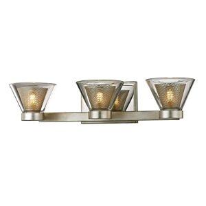 "Troy Lighting Troy Wink 3-Light 20"" Bathroom Vanity Light in Silver Leaf"