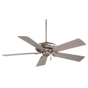 """Minka-Aire Supra 52"""" Ceiling Fan in Brushed Steel"""