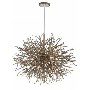 Troy Lighting Troy Sierra 9-Light Chandelier in Distressed Bronze