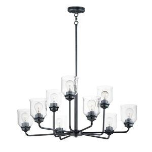 Maxim Lighting Maxim Acadia 9-Light Transitional Chandelier in Black