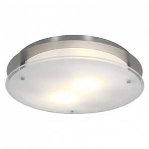 Access Lighting Access Visionround Ceiling Light in Brushed Steel