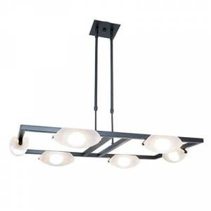 """Access Lighting Access Nido 6-Light 19"""" Contemporary Chandelier in Oil Rubbed Bronze"""