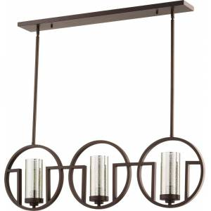 "Quorum International Quorum Julian 3-Light 5"" Ceiling Island Light in Oiled Bronze"