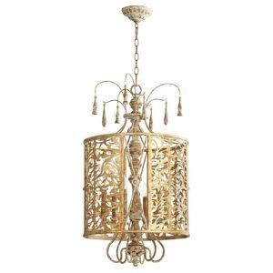 """Quorum International Quorum Leduc 6-Light 18"""" Pendant Light in Florentine Gold"""