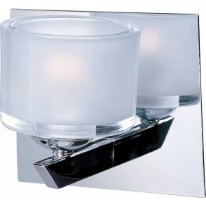 """ET2 Lighting ET2 Vortex 5.75"""" Frost White Glass Wall Sconce in Polished Chrome"""