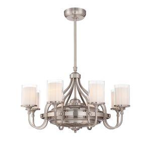 Savoy House Etesian 8-Light Fandelier in Satin Nickel - 36-329-FD-SN