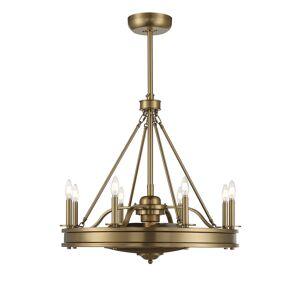 Savoy House Lyon 8-Light Fan D Lier in Warm Brass - 39-FD-124-322