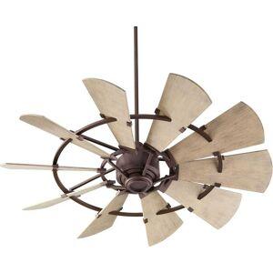 """Quorum International Quorum Windmill 52"""" Indoor/Outdoor Ceiling Fan in Oiled Bronze"""