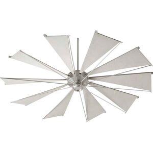 """Quorum International Quorum Mykonos 72"""" Indoor/Outdoor Ceiling Fan in Satin Nickel"""