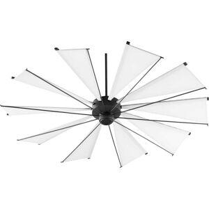 """Quorum International Quorum Mykonos 72"""" Indoor/Outdoor Ceiling Fan in Noir"""