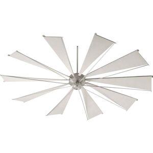 """Quorum International Quorum Mykonos 92"""" Indoor/Outdoor Ceiling Fan in Satin Nickel"""