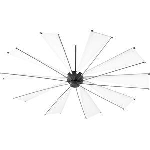 """Quorum International Quorum Mykonos 92"""" Indoor/Outdoor Ceiling Fan in Noir"""