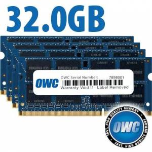 Other World Computing 32.0GB (4x 8GB) PC3-12800 DDR3L 1600MHz SO-DIMM 204 Pin CL11 SO-DIMM Memory Upgrade Kit