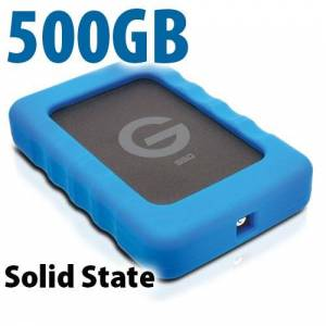G-Technology 500GB G-Technology G-DRIVE ev SSD RaW: Rugged and Lightweight USB 3.0 Solid State Drive.