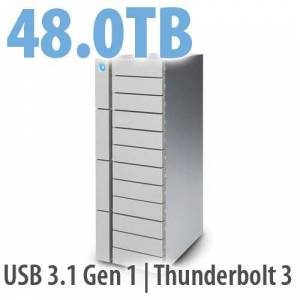 LaCie 48.0TB LaCie 12big Thunderbolt 3, 12-Bay Desktop RAID Storage