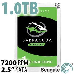 Seagate 1.0TB 7200RPM Seagate 2.5-inch BarraCuda High-Performance SATA HDD with 128MB cache