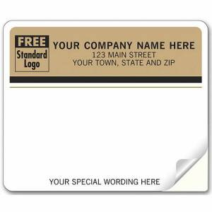 Deluxe for Business Enterprise Mailing Labels, Laser, Tan Return Address