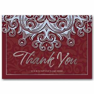 Deluxe for Business Blue Velvet Thank You Cards