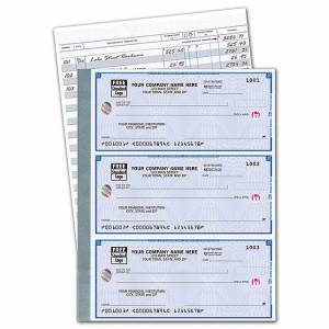 Deluxe for Business Deluxe High Security 3-On-A-Page Compact Size Checks w/CFP