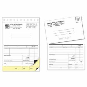 Deluxe for Business Sales Orders with Postcard and Carbons