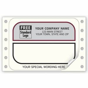 Deluxe for Business Mailing Labels, Continuous, White w/ Gray Return Area