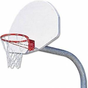 MacGregor 5' Heavy Duty Gooseneck Basketball System with White Painted Backboard and Breakaway Rim