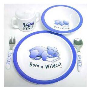 Duck House Kansas State Wildcats 5 Piece Child's Dinner Set