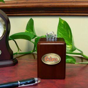 The Memory Company Florida Gators Wood Paper Clip Holder